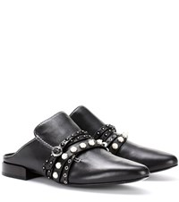 3.1 Phillip Lim Leather Slippers Black