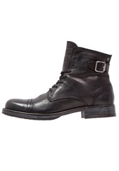 Jack And Jones Jfwsiti Laceup Boots Anthracite