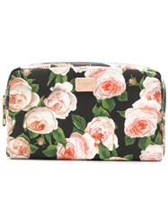 Dolce And Gabbana Floral Print Makeup Bag Black