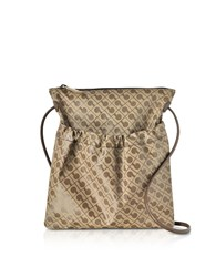 Gherardini Handbags Signature Coated Canvas And Leather Softy Crossbody Bag