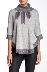 Fever Turtleneck Poncho Gray