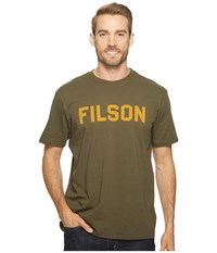 Filson Short Sleeve Outfitter Graphic T Shirt Otter Green Iron Men's T Shirt Olive