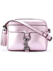 Rebecca Minkoff Lobster Clasp Cross Body Bag Pink Purple