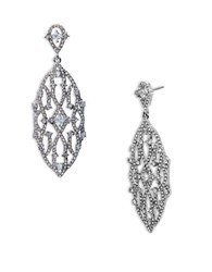 Lauren Ralph Lauren Cubic Zirconia Chandelier Pierced Earrings White