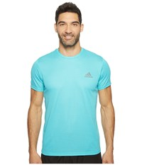 Adidas Essential Tech Crew Tee Energy Blue Clear Aqua Men's T Shirt