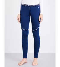 Perfect Moment Thermal Stretch Woven Ski Leggings Navy