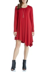 Karen Kane Women's Ellie Asymmetrical Swing Dress Red