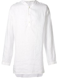Isabel Benenato Long Tunic Shirt White