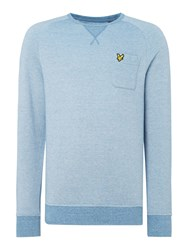 Lyle And Scott Men's Oxford Crew Neck Sweatshirt Light Blue