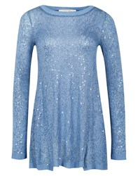 Nougat London Nougat Long Sleeve Sequin Top Blue
