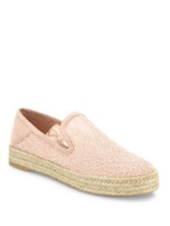 Stuart Weitzman Country Lace Espadrille Sneakers White Black Rose