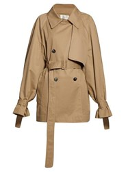 The Row Keera Belted Twill Trench Coat Beige
