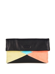 Marc By Marc Jacobs Geometric Slouchy Leather And Suede Clutch
