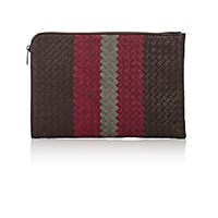 Bottega Veneta Men's Large Intrecciato Portfolio Brown