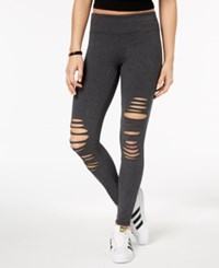 Material Girl Active Juniors' Cutout Leggings Created For Macy's Heather Charcoal