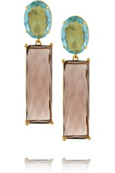 Bounkit Gold Tone Quartz Earrings Metallic