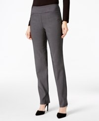Charter Club Checkered Slim Leg Pants Only At Macy's Deep Black Cmb