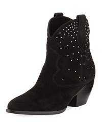 Sigerson Morrison Suede Boots With Stud Detail Black