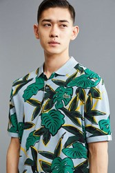 Lacoste L Ve Tropical Print Polo Shirt Grey