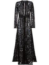 Elie Saab Floral Lace Coat Black