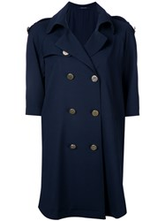 Tagliatore Soft Trench Coat Blue