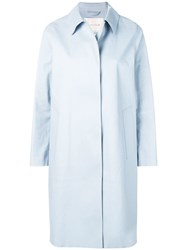 Mackintosh Pale Blue Bonded Cotton Coat