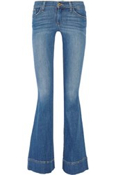 Alice Olivia Low Rise Flared Jeans Mid Denim
