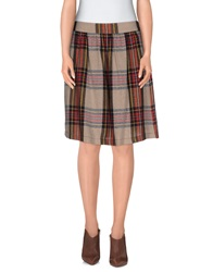 Momoni Momoni Knee Length Skirts