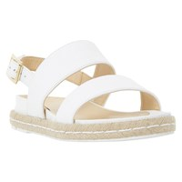Dune Lacrosse Espadrille Sandals White Leather