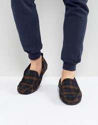 Dunlop Check Slippers Blue