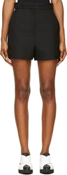 Proenza Schouler Black Textured High Waisted Short