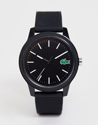 Lacoste. 12.12 Silicone Watch In Black