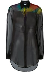 Marcelo Burlon County Of Milan Multicoloured Wings Shirt Women Polyester M Black