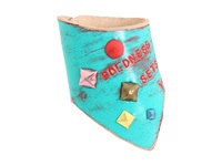 Leather Couture By Jessica Galindo Classic Freeform Cuff Free Turquoise Red Bracelet