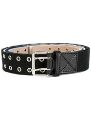 Y Project Adjustable Eyelet Belt Cotton Leather