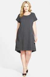 Plus Size Women's Sejour French Terry Shift Dress