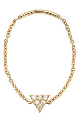 Women's Bony Levy 'Simple Obsessions' Diamond Triangle Chain Ring Nordstrom Exclusive