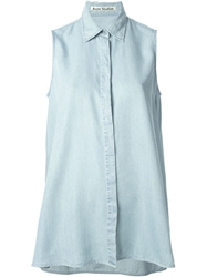 Acne Studios Ash Fluid Sleeveless Button Up Blue