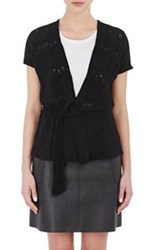 Barneys New York Women's Cashmere Cap Sleeve Cardigan Black