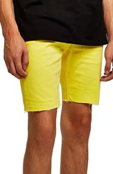 Topman Skinny Fit Stretch Shorts Yellow