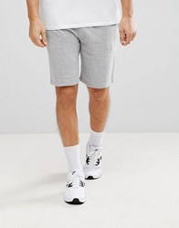 New Look Jersey Shorts In Grey Mid Grey