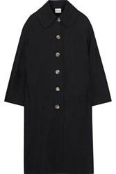 Khaite Woman Doris Cotton Gabardine Coat Black