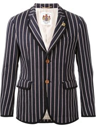 Education From Youngmachines Striped Blazer Blue