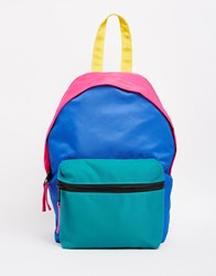 Asos Mini Colourblock Festival Nylon Backpack Multi