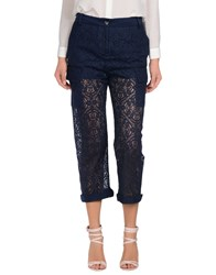 Pinko Trousers 3 4 Length Trousers Women Dark Blue
