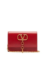 Valentino V Case Leather Cross Body Bag Red