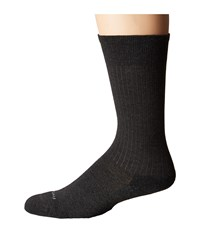 Feetures Classic Rib Cushion Crew Sock Charcoal Crew Cut Socks Shoes Gray