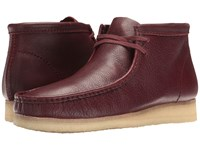 Clarks Wallabee Boot Burgundy Tumbled Leather Men's Lace Up Boots