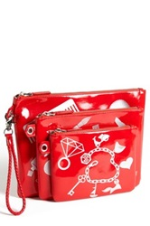 Jonathan Adler Cosmetics Pouch Set Red