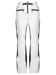 Toni Sailer Anais Jet Flared Ski Trousers White Black